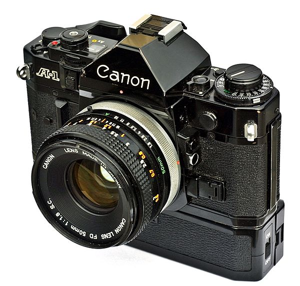 Canon A-1 with Power Winder A