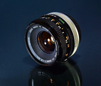 Canon FD 50mm lit by LED lighting