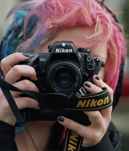 Liana with a fucking huge Nikon D2H